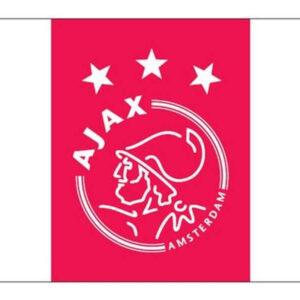 Ajax vlag rood wit logo (BESCHADIGD) – MAAT 150×225